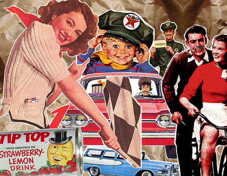 Vintage ads collage