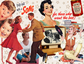 Collage with vintage ads. by rubylima