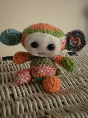 Amigurumi Rainbow Monkey by geekyfrancy