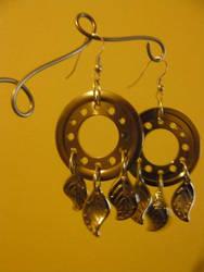 Hard drive earrings by Alloronan