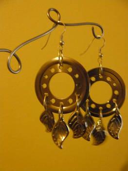 Hard drive earrings