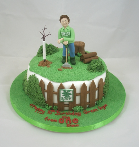 gardening cake by Dragonsanddaffodils on DeviantArt