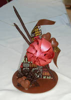 chocolate sculpture by Dragonsanddaffodils