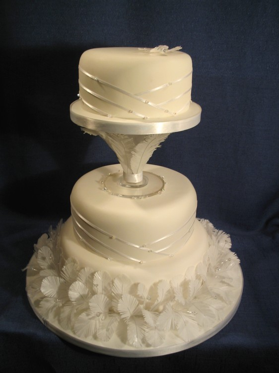 Edible Feather Wedding Cake By Dragonsanddaffodils On DeviantArt