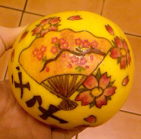 Tattooed Japanese Grapefruit by Dragonsanddaffodils