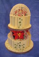 Chocolate winter wedding cake by Dragonsanddaffodils