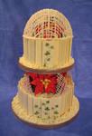 Chocolate winter wedding cake