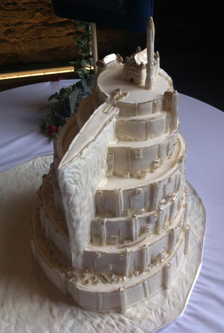Minas Tirith Cake by Dragonsanddaffodils