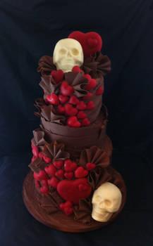 Milk Chocolate Skull cake