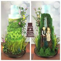 Our woodland Star Wars wedding cake