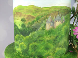 Castle coch painting on wedding cake