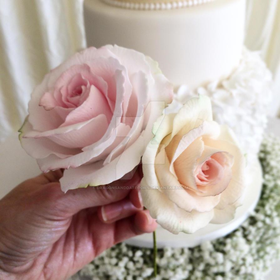 Sugar roses by Dragonsanddaffodils