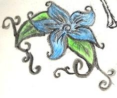 Flowering blue by XDemonitaX