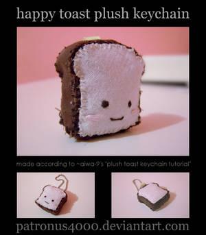 Happy Toast Plush Keychain