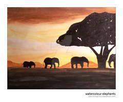 Watercolour Elephants