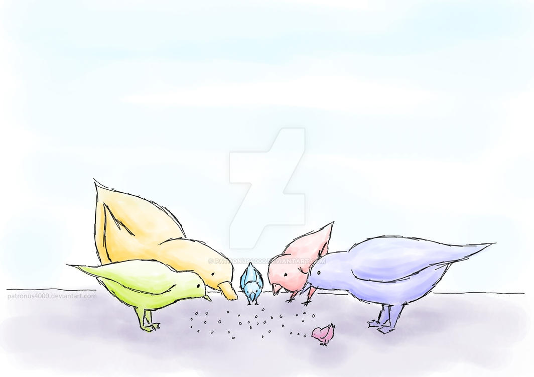 birds -digitalwatercolour- by patronus4000