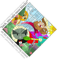 dA's 9th - colouring contest by patronus4000
