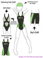 TMNT-U Swimming club outfit by Azuki-chan
