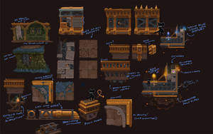 Concept - Clockworks Tileset by Malakym
