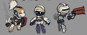 Spiral Knights: Pre-Alpha Designs by Malakym