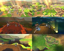 Spiral Knights: Unused Haven Skybox
