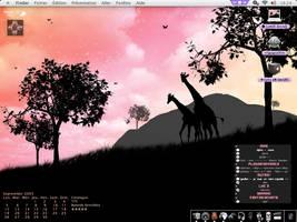 A new desk about giraffe by juyle