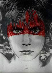 Boy / from U2 WAR cover art by EstebanCandia