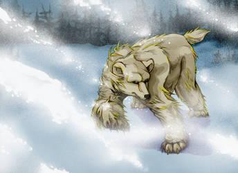 Polar Bear in a Snow Storm (2012) by La-Nora