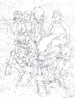 Sonic and the Gang (2009) by La-Nora