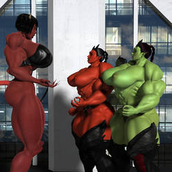 Demonic month giantess meeting by voradorst
