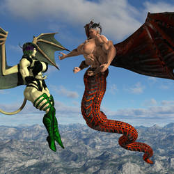 Demonic month nice talk between demons by voradorst