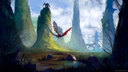 Dragon Valley by Gruncirius