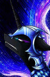 Nightmare Moon by flamevulture17