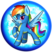 Rainbow Dash Wonderbolt Orb by flamevulture17