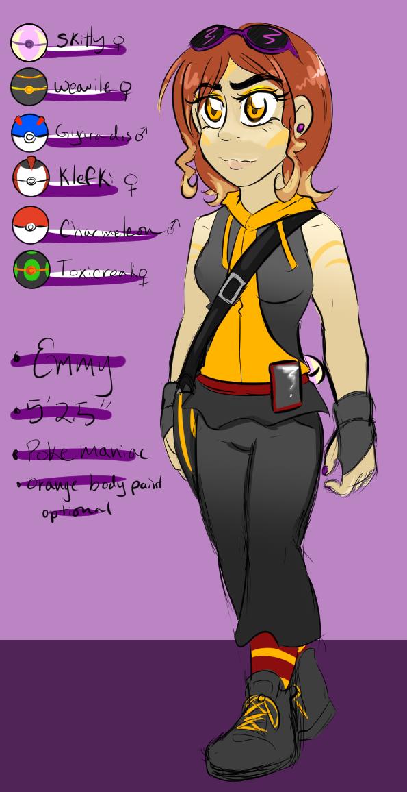 Pokemon Trainer Emmy by cyberill