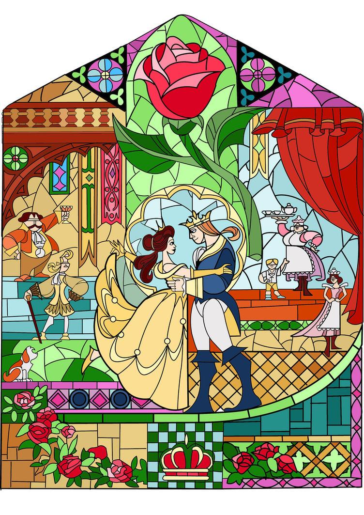 Beauty and Beast glass colour by LaBelleRose