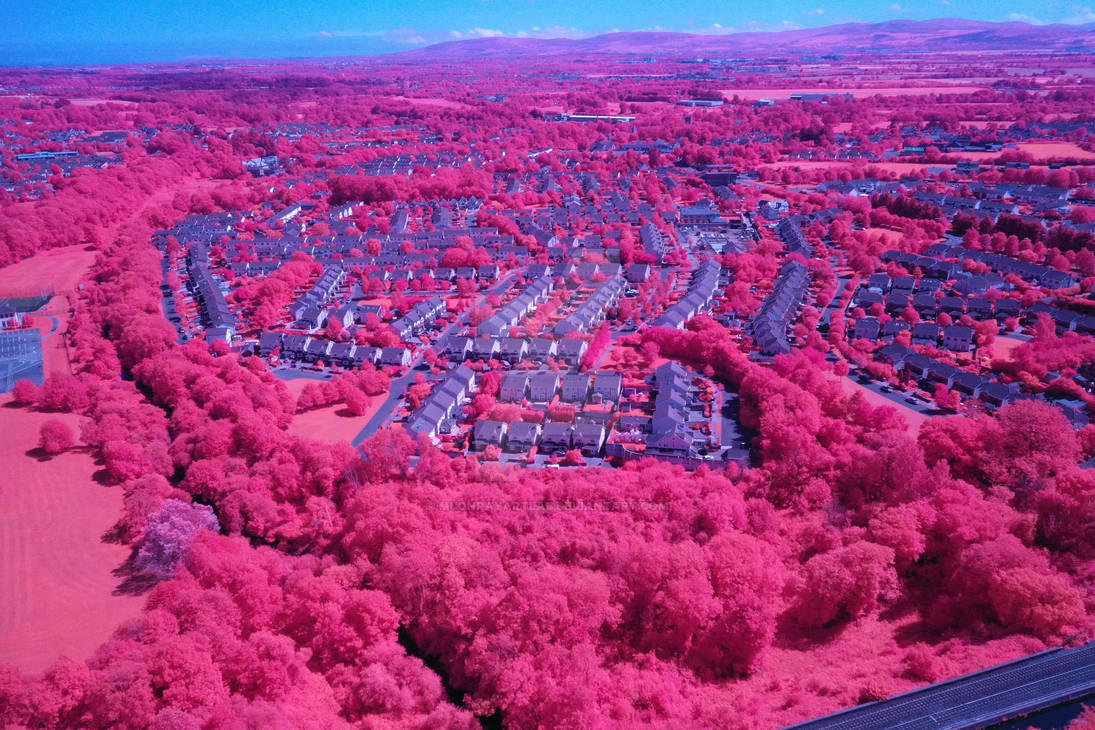 Irish Town in Summer Captured in Near-Infrared by MuonRayArtLab