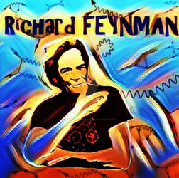 Richard Feynman Art of Physics Poster