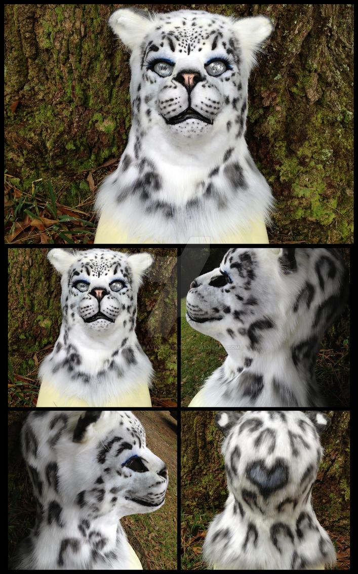 {For Sale} Snow Leopard Fursuit Head / Mask by MissCreatureCreator