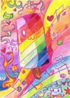 rainbow ice cream by eliza11