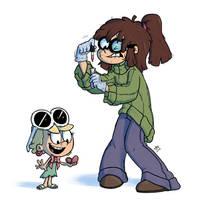 Leni and Lisa Age Swap by wwwjam