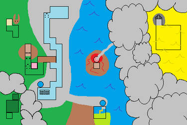 Current Town Map of Pokemon Spork Adventure.