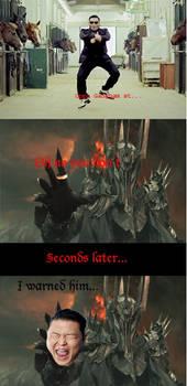 Sauron hates gangnam style