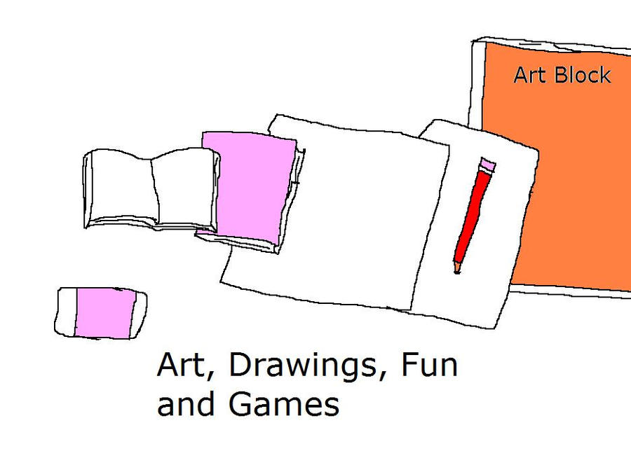 More art drawings fun and Games by Dinzydragon