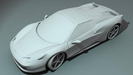 Ferrari 458 Spider WIP by 3DFunkee
