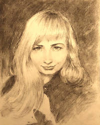 Charcoal portrait study by selasewa