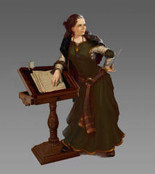 Medieval music teacher concept by selasewa