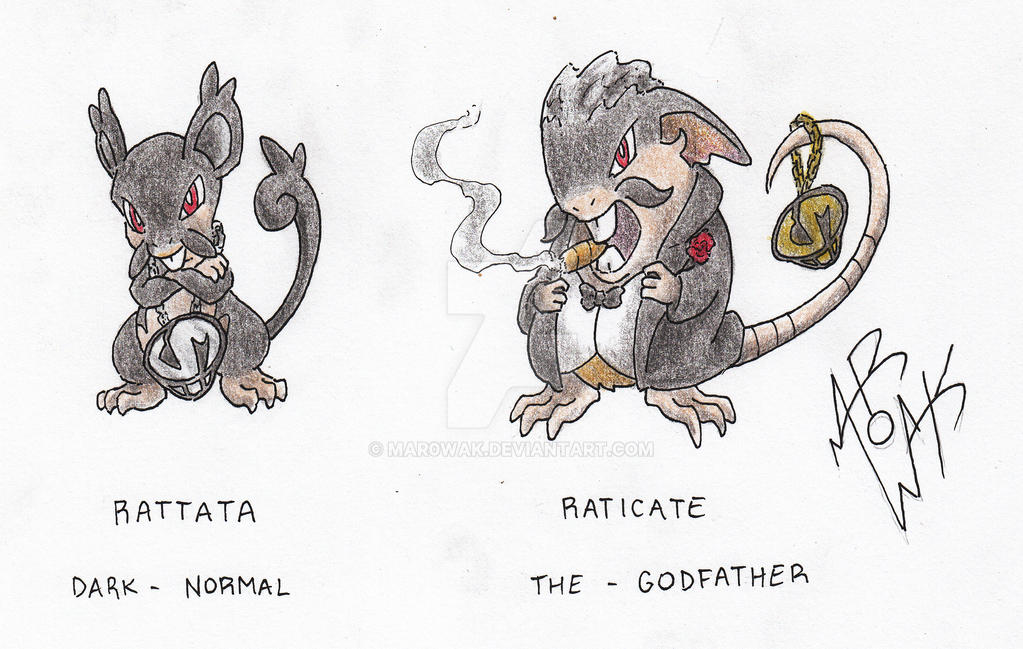 Rattata and Raticate Alola form by MAR0WAK on DeviantArt
