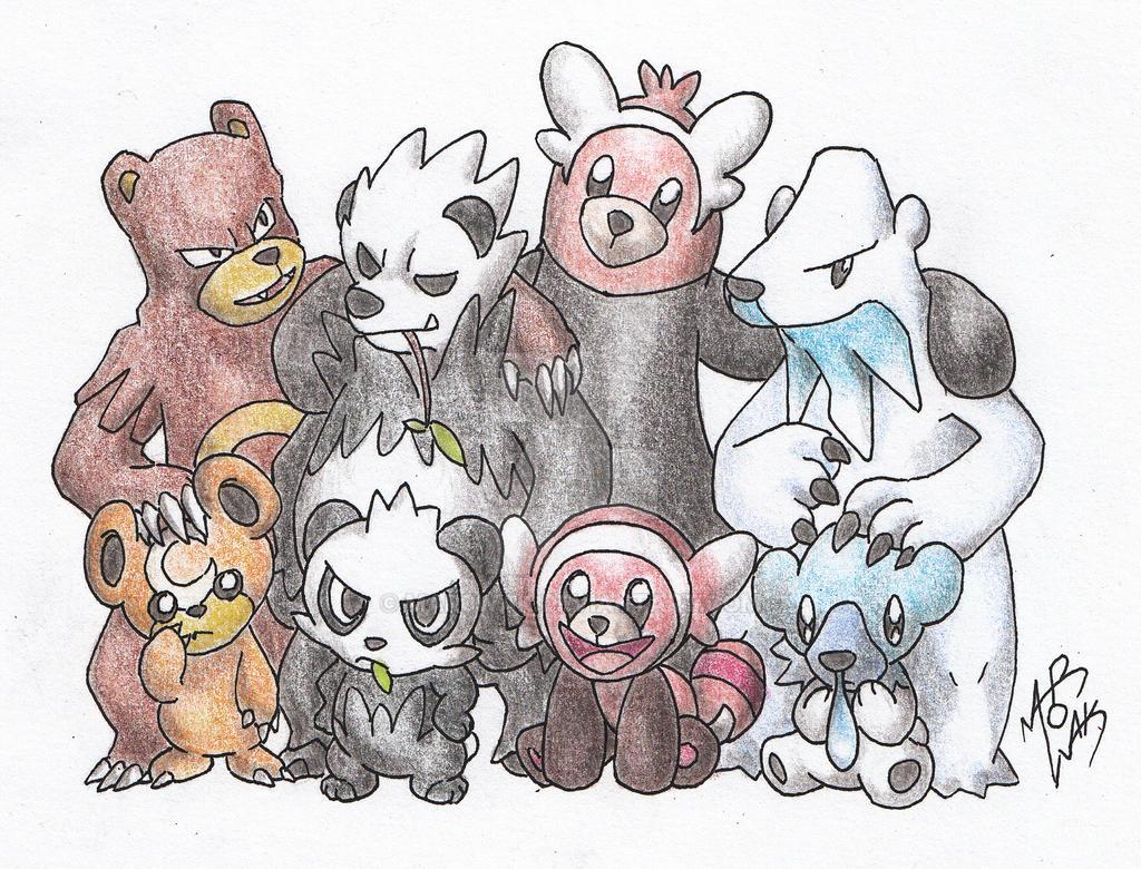 Pokemon Bear Family By Mar0wak On Deviantart