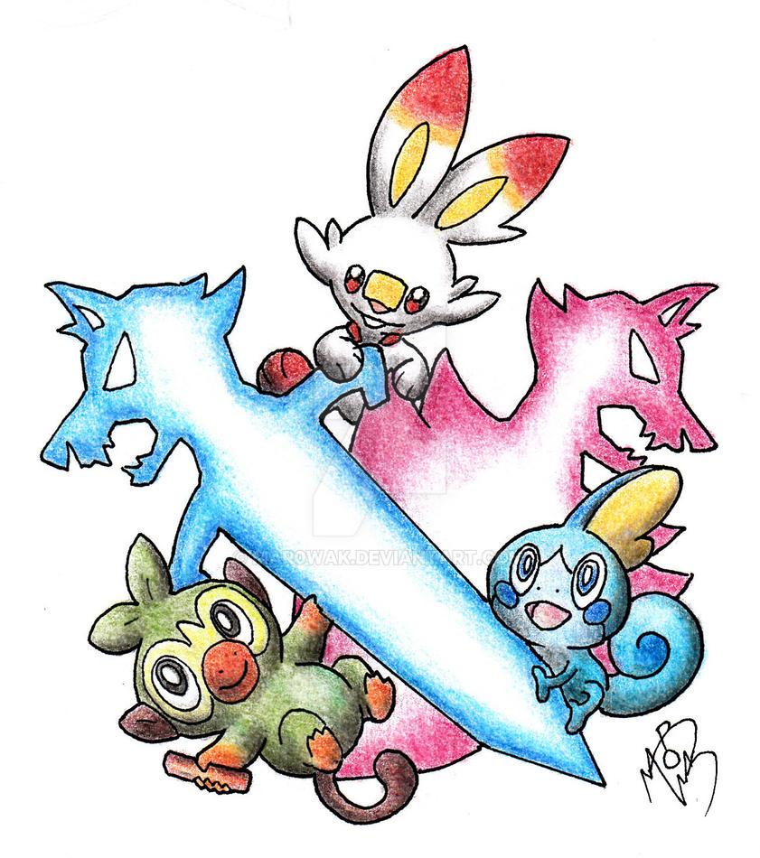 Pokemon Sword And Shield New Starter By Mar0wak On Deviantart
